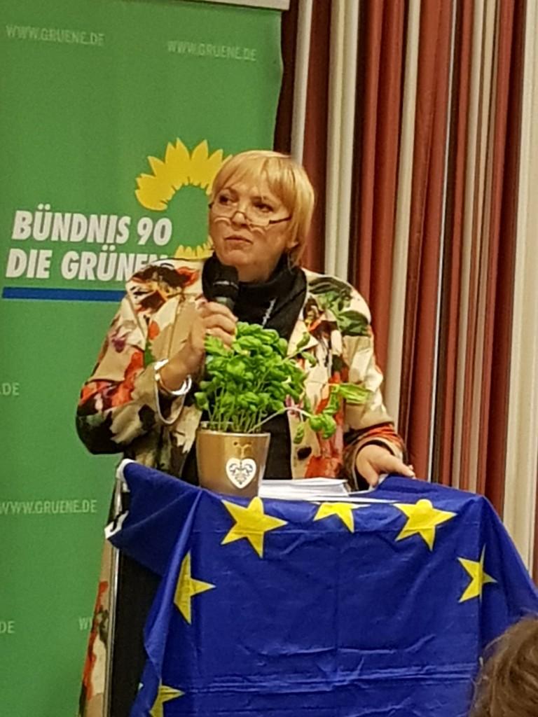 Claudia Roth beim Neujahrsempanf der Landkreis-Grünen
