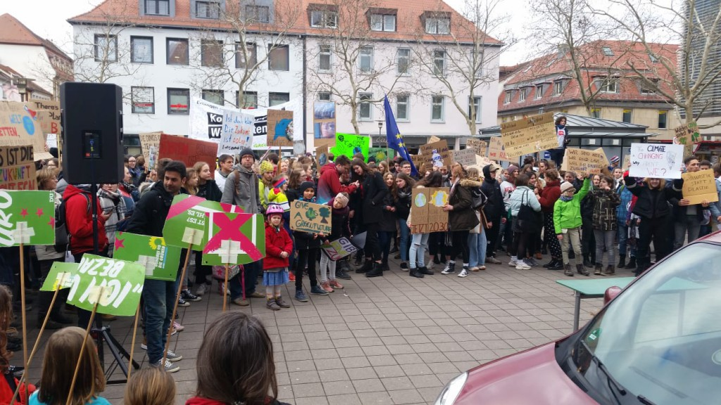 Fridays for Future in Erlangen am 22.02.2019